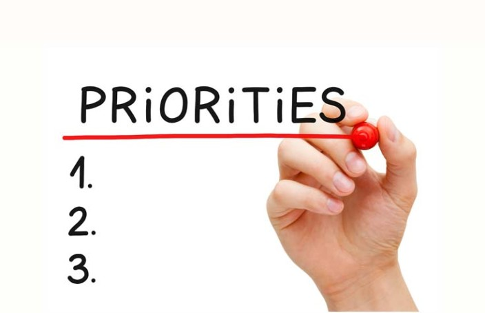 List your priorities